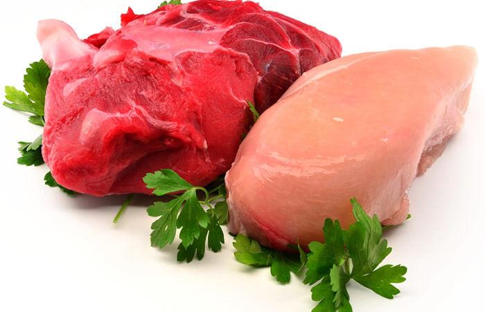 رژیم غذایی تیروئید - گوشت گاو و مرغ